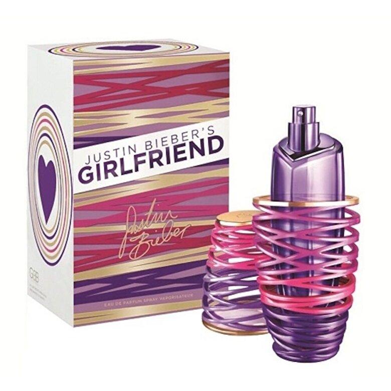 Justin Bieber - Apa de parfum Girlfriend, 50 ml, Pentru Femei - Incolor