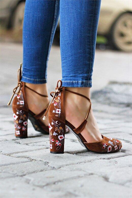 Incetopuk - Pantofi cu toc Incetopuk 7YAZA0025 - Maro deschis