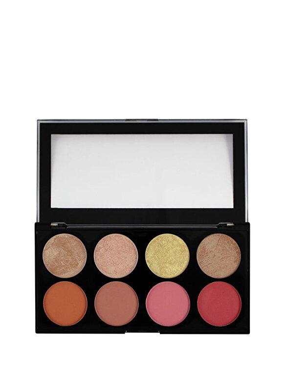 Makeup Revolution London - Paleta farduri de obraz si iluminator, nuanta Blush Goddess, 13 g - Incolor