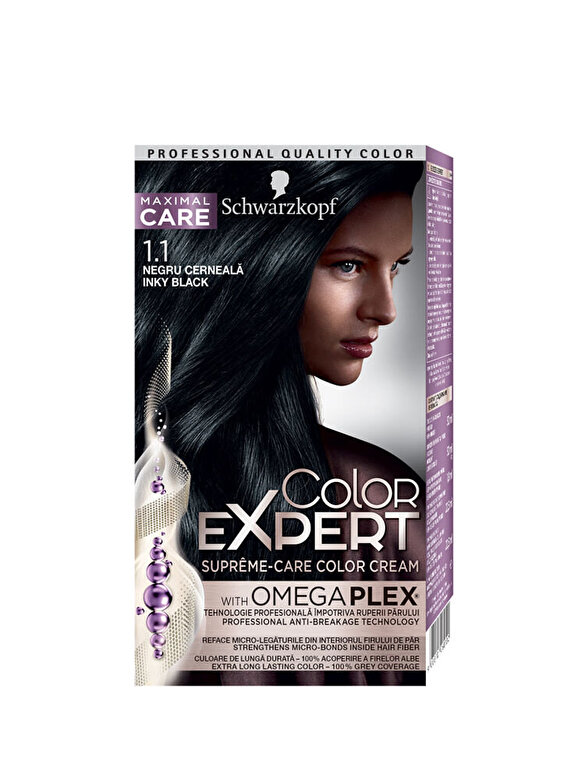 Schwarzkopf Color Expert - Vopsea de par Color Expert, 1-1 Inky Black, 146.8 ml - Incolor