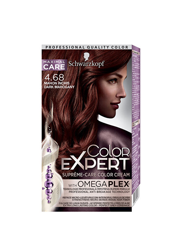 Schwarzkopf Color Expert - Vopsea de par Color Expert, 4-68 Dark Mahagony, 146.8 ml - Incolor