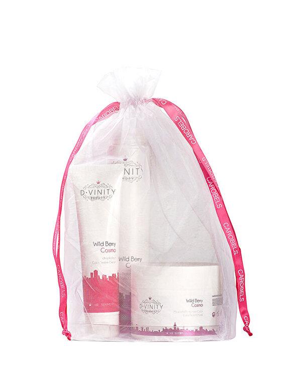 Carobels - Set pentru ingrijirea parului vopsit D.Vinity Cosmo Beauty (Sampon 250 ml, Masca protectoare 250 ml, Crema hidratanta 100 ml), pentru femei - Incolor
