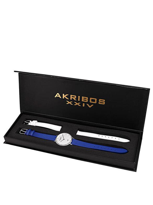 Akribos XXIV - Set Akribos XXIV AK933SS-BX - Alb-albastru