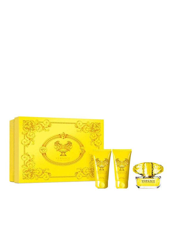 Versace - Set cadou Versace Yellow Diamond (Apa de toaleta 50 ml + Lotiune de corp 50 ml + Gel de dus 50 ml), Pentru Femei - Incolor