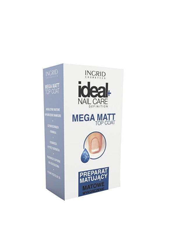 INGRID Cosmetics - Top de unghii cu efect matifiant Ideal, 7 ml - Incolor