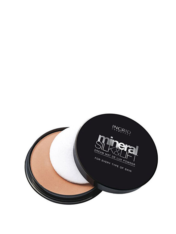 INGRID Cosmetics - Pudra Mineral Silk & Lift Dream Matt de Lux, nuanta 020, 17 ml - Incolor