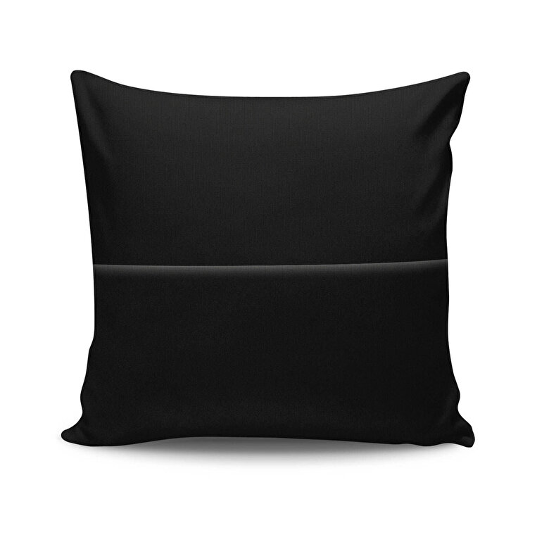 Spiffy - Perna decorativa Spiffy, Dimensiune: 45 x 45 cm, Material exterior: 50% bumbac / 50% poliester 425SPF0184 - Negru