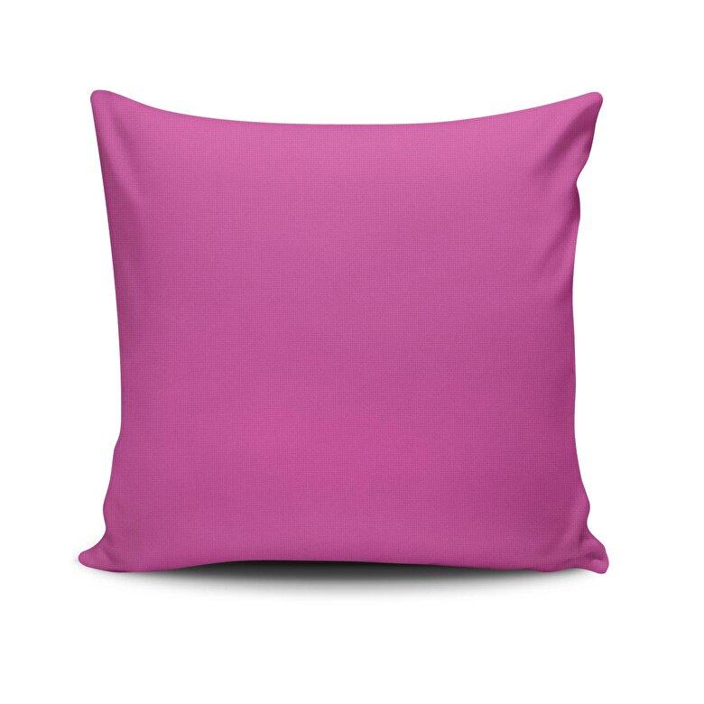 Spiffy - Perna decorativa Spiffy, Dimensiune: 45 x 45 cm, Material exterior: 50% bumbac / 50% poliester 425SPF0185 - Fuchsia