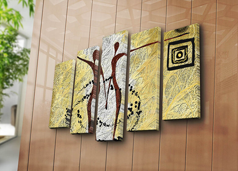 Horizon - Tablou decorativ canvas (5 Piese)Horizon - Multicolor