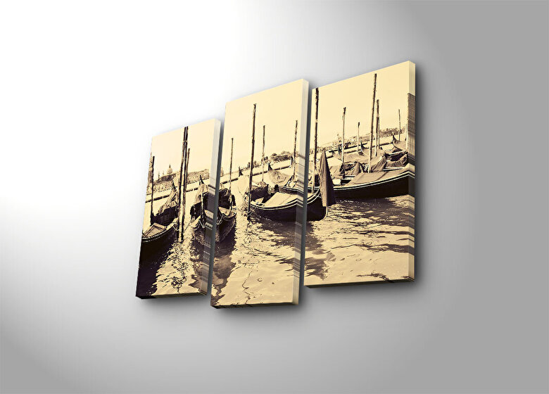 Horizon - Tablou decorativ canvas(3 Piese)Horizon - Multicolor