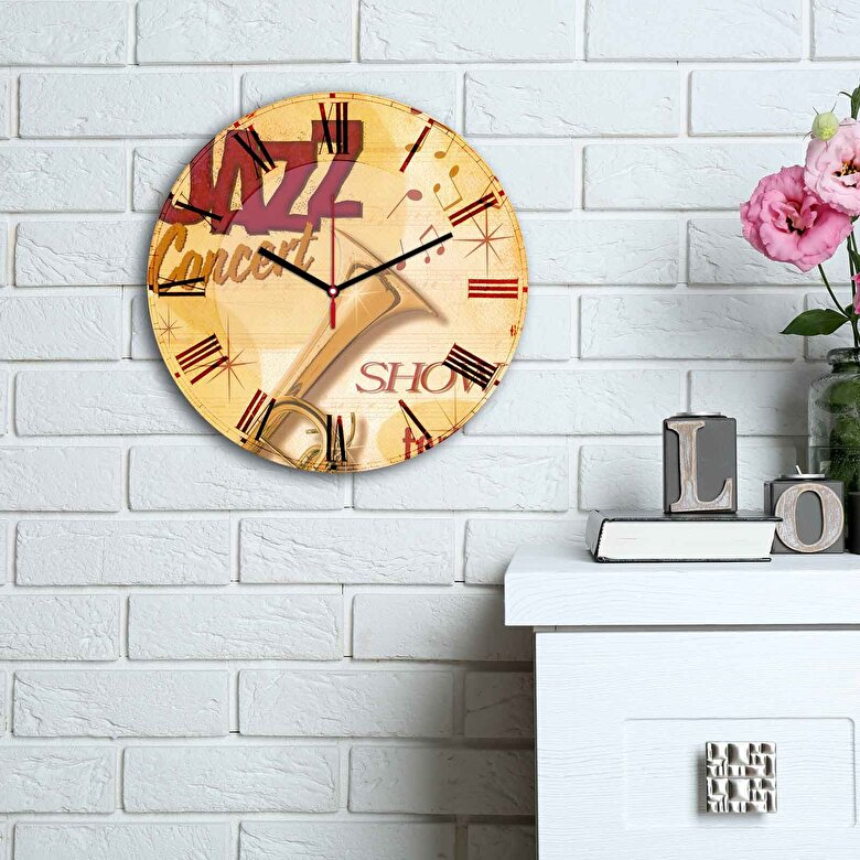 Home Art - Ceas decorativ de perete din MDF Home Art - Multicolor