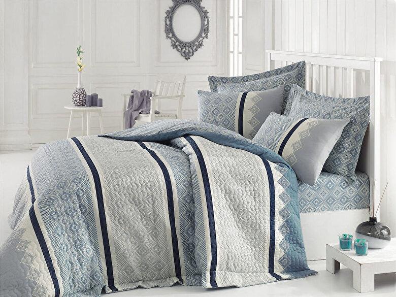 Cotton Box - Lenjerie dubla de pat, Cotton Box, material: 100%  bumbac - Multicolor