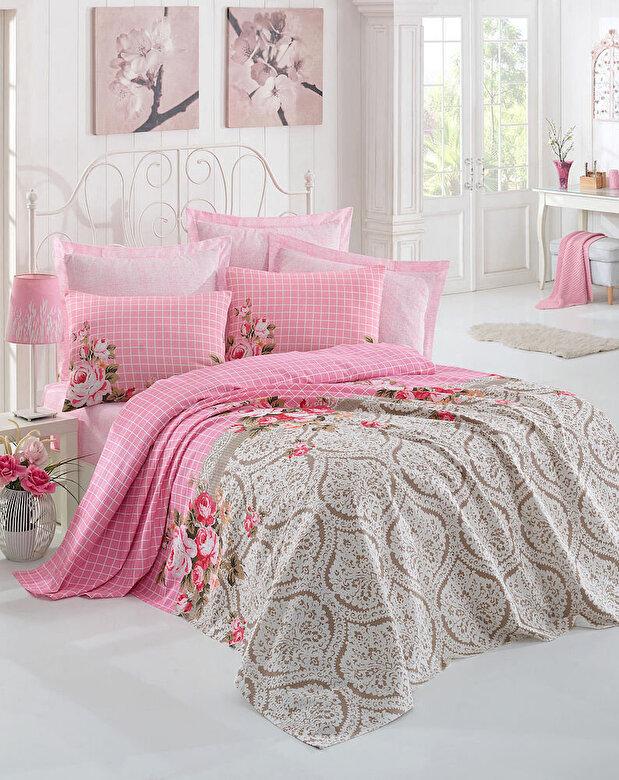 Eponj Home - Set lenjerie de pat, Eponj Home, material: 100% bumbac, 143EPJ6041 - Multicolor