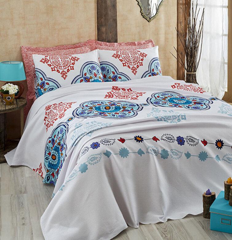 Eponj Home - Set lenjerie de pat, Eponj Home, material: 100% bumbac, 143EPJ6016 - Multicolor
