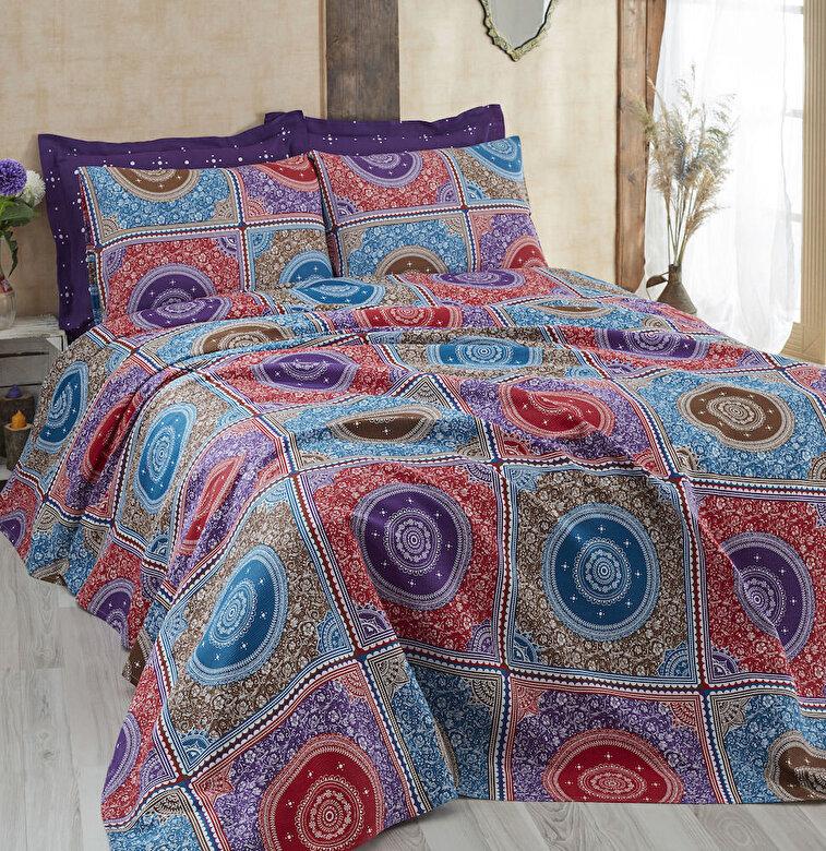Eponj Home - Set lenjerie de pat, Eponj Home, material: 100% bumbac, 143EPJ6019 - Multicolor