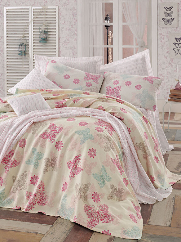 Eponj Home - Set lenjerie de pat, Eponj Home, material: 100% bumbac, 143EPJ5445 - Multicolor