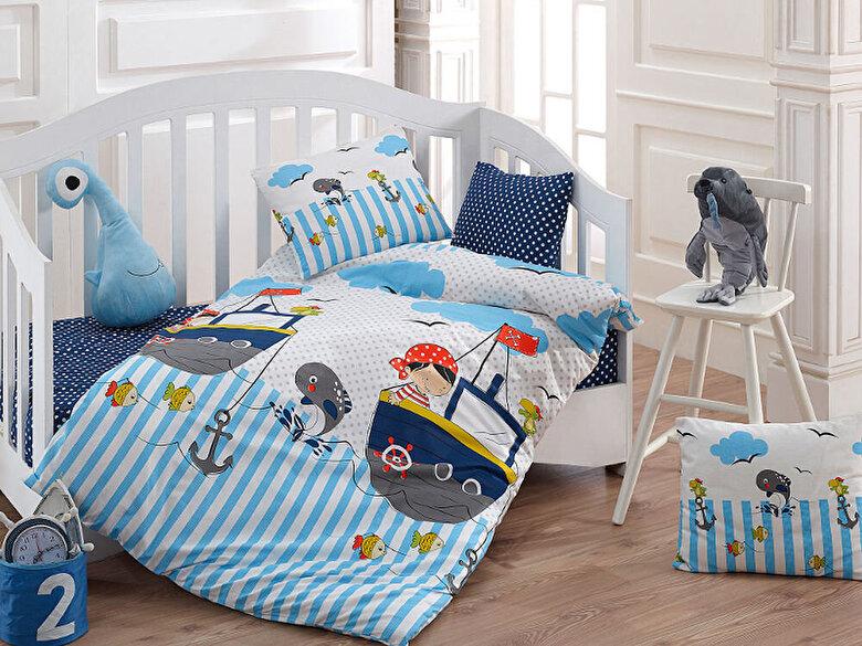 Majoli Bahar Home Collection - Lenjerie de pat pentru copii, Majoli Bahar Home Collection, material: 100% bumbac, 110BHR2026, 100 x 160 cm - Multicolor