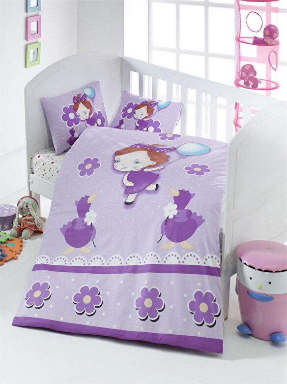 Victoria - Lenjerie de pat pentru copii, Victoria, material: 100% bumbac, 121VCT2002 - Multicolor