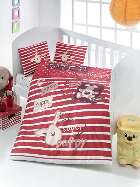 Victoria - Lenjerie de pat pentru copii, Victoria, material: 100% bumbac, 121VCT2004 - Multicolor
