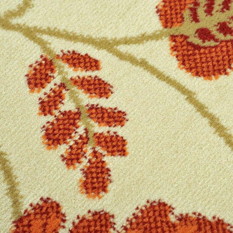 Decorino - Covor Decorino, Floral, polipropilena, C-020101, 120x170 cm, Portocaliu - Portocaliu