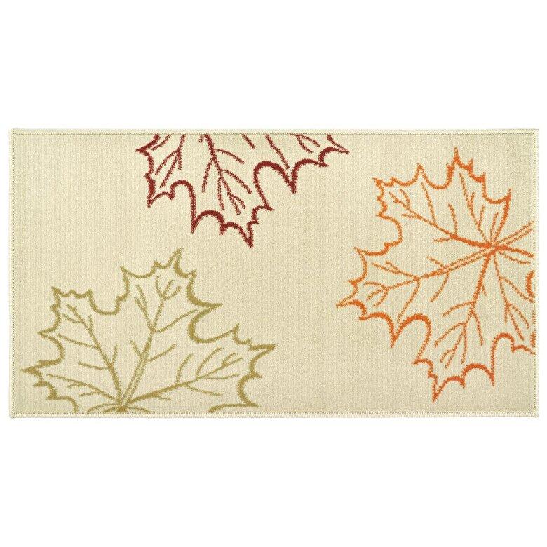 Decorino - Covor Decorino, Floral, polipropilena, C-020116, 120x170 cm, Bej - Bej