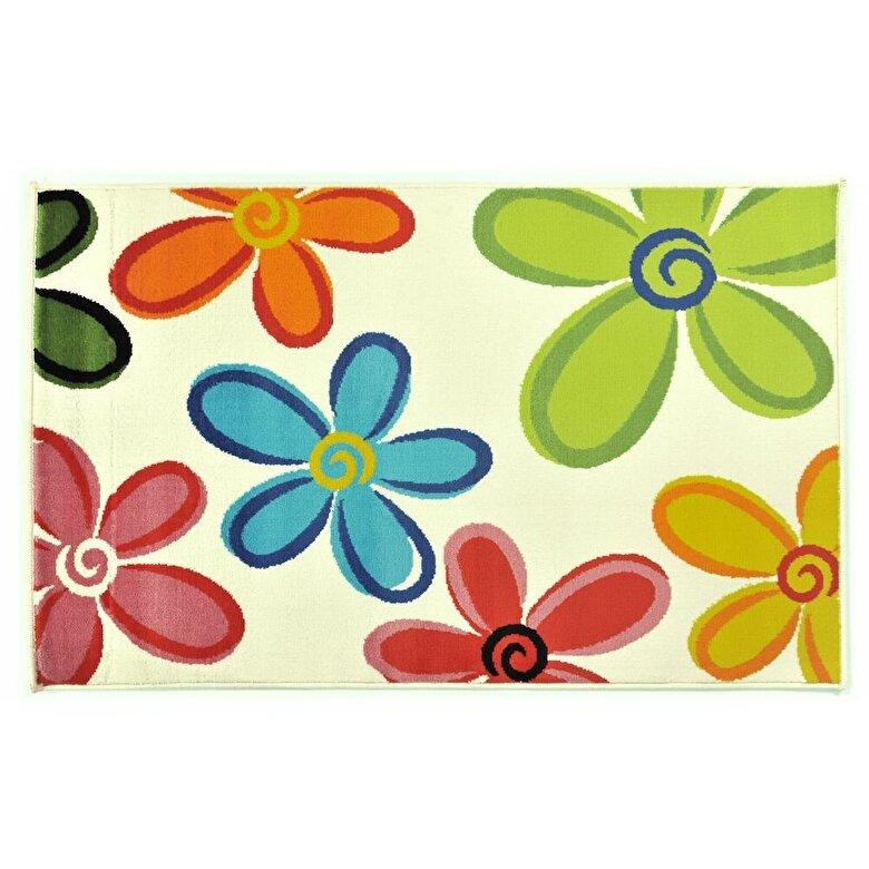 Decorino - Covor Decorino, Floral, polipropilena, C-030403, 100x150 cm, Multicolor - Multicolor