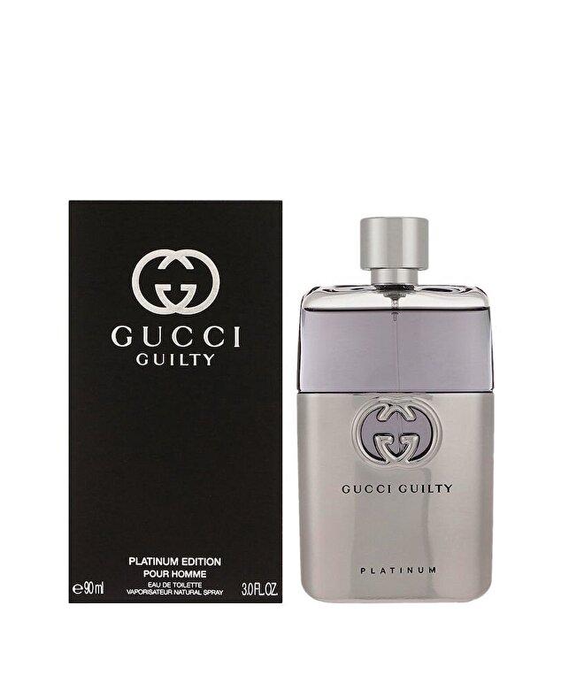 Gucci - Apa de toaleta Guilty Platinum, 90 ml, Pentru Barbati - Incolor