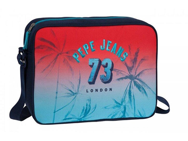 Pepe Jeans - Geanta pentru laptop Pepe Jeans 64350.51 - Rosu-albastru