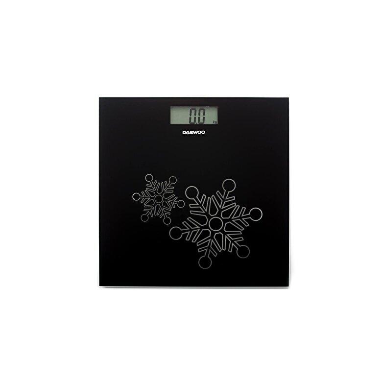 Daewoo - Cantar electronic de persoane Daewoo, DBS210B, capacitate 150 kg, display LCD, Negru - Negru