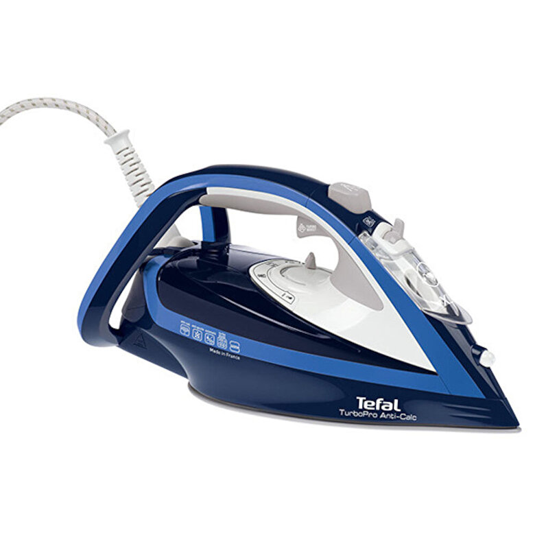 Tefal - Fier de calcat Tefal Turbo Pro, FV5630E0, 2600W, 200g/min, Albastru - Albastru