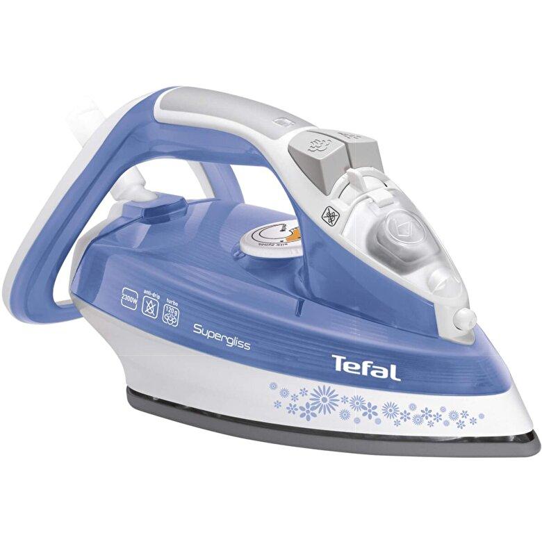 Tefal - Fier de calcat Tefal Supergliss Easycord, FV4496E0, 2300W, 120g/min, Ultragliss Diffusion, Albastru/Alb - Albastru