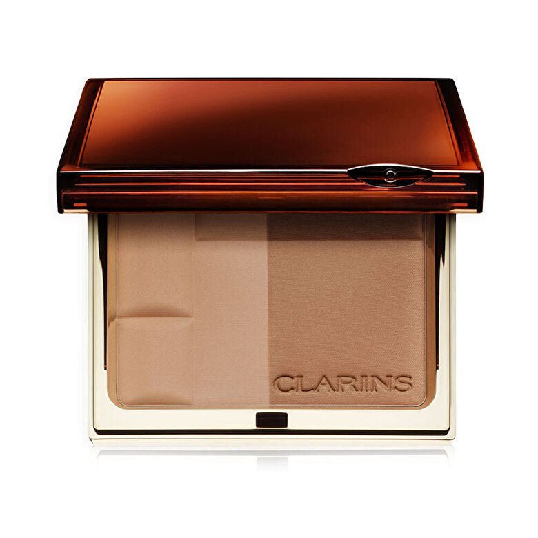 Clarins - Pudra bronzanta cu SPF 15, 03 Dark, 10 g - Incolor