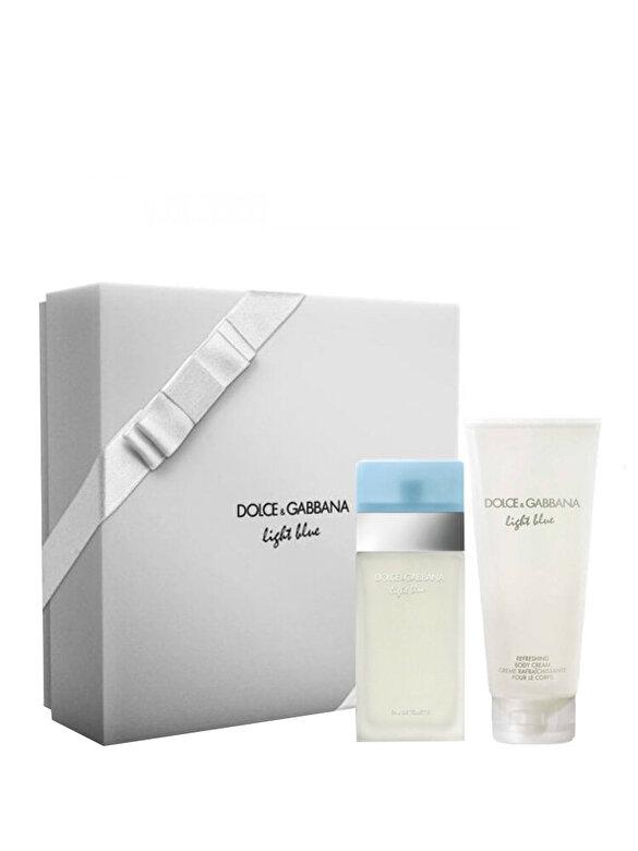 Dolce & Gabbana - Set cadou Light Blue (Apa de toaleta 50ml + Lotiune de corp 100ml), Pentru Femei - Incolor