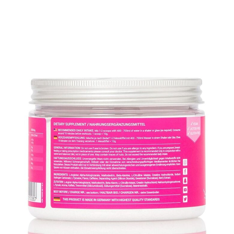 Women's best - Pre Workout Booster 300g - Crazy Fruits - Incolor