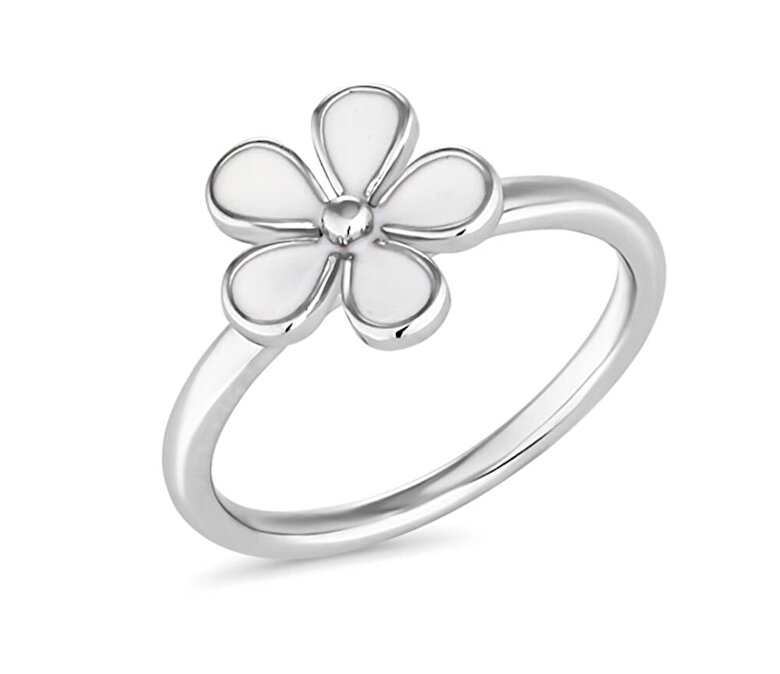 Diamond Style - Inel Diamond Style WHITEDAISYSTACKRING - Argintiu