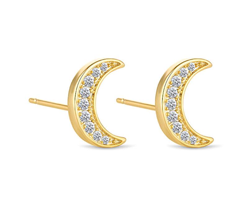 Diamond Style - Cercei Diamond Style CRESCENTEARRGOLD - Auriu