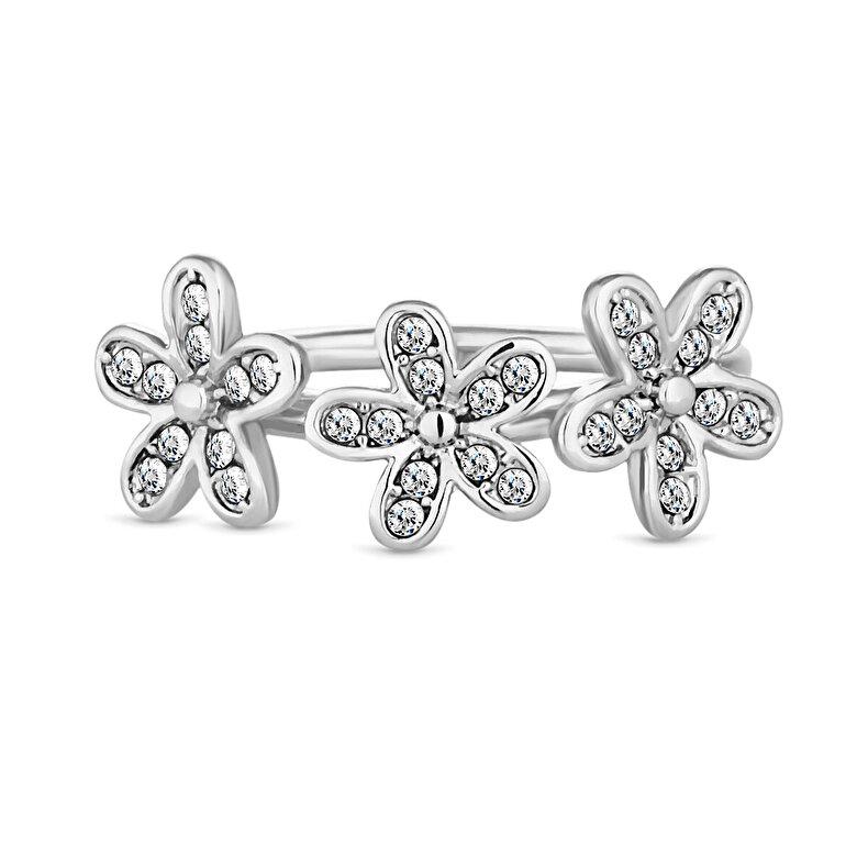 Diamond Style - Inel Diamond Style TRIPLEDAISYSTACKRING - Argintiu