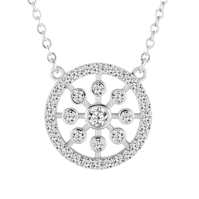 Diamond Style - Colier cu pandantiv Diamond Style KISMETPEN - Argintiu
