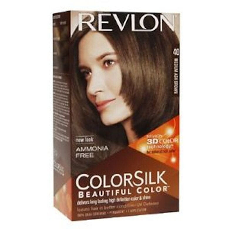 Revlon - Vopsea de par ColorSilk, 40 Medium Ash Brown - Incolor