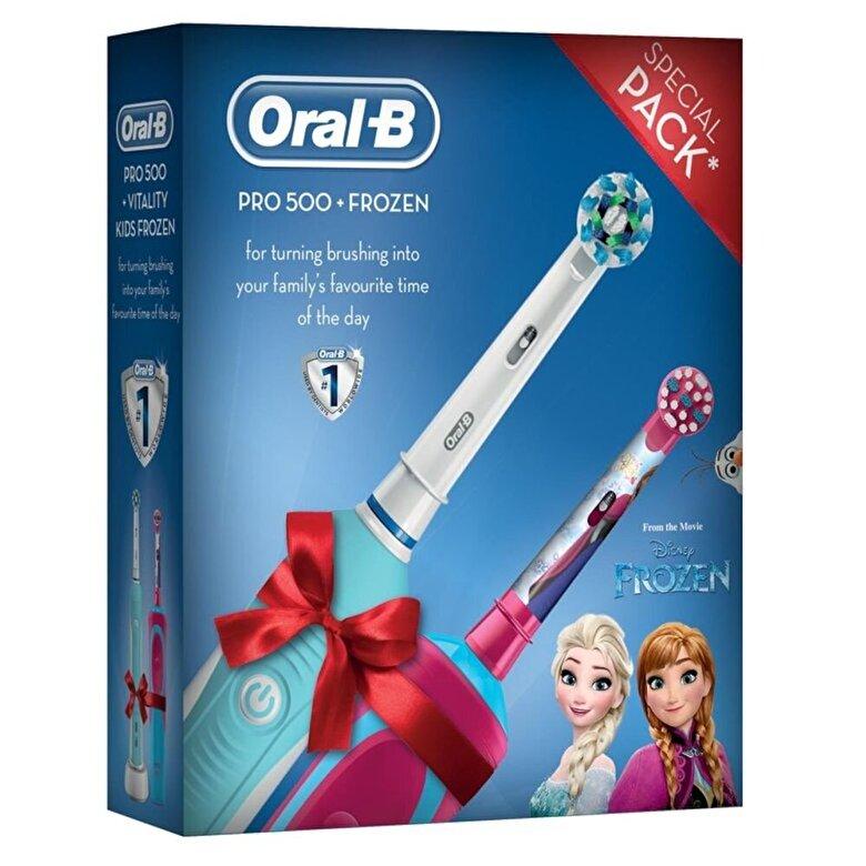 Oral-B - Periuta electrica Oral B PRO 500 +Vitality Kids Frozen - Multicolor