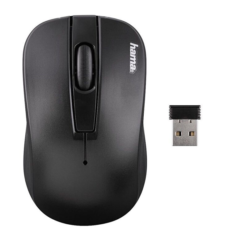 Hama - Mouse optic wireless Hama, 134917, raza de pana la 8 m, Negru - Negru