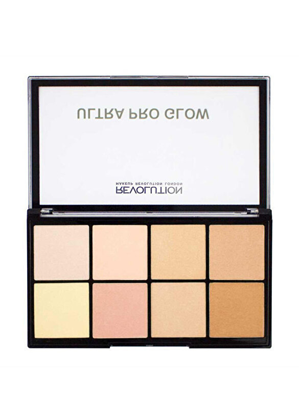 Makeup Revolution London - Paleta Iluminatoare Ultra Pro Glow, 20 g - Incolor