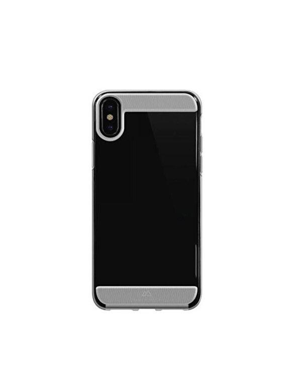 Hama - Husa de protectie Air Potect Black Rock, pentru iPhone X, transparent - Negru