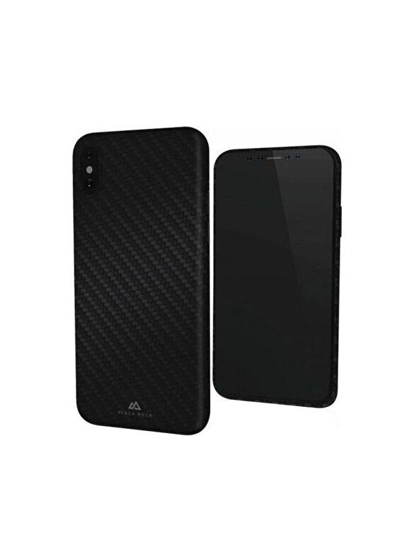 Hama - Carcasa Ultra T Iced Black Rock, pentru iPhone X - Negru