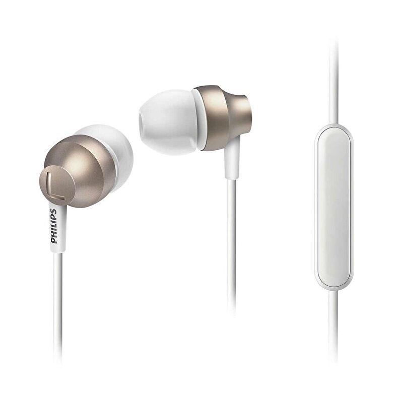 Philips - Casti audio In-Ear Philips, SHE3855GD/00, Microfon, Auriu - Auriu
