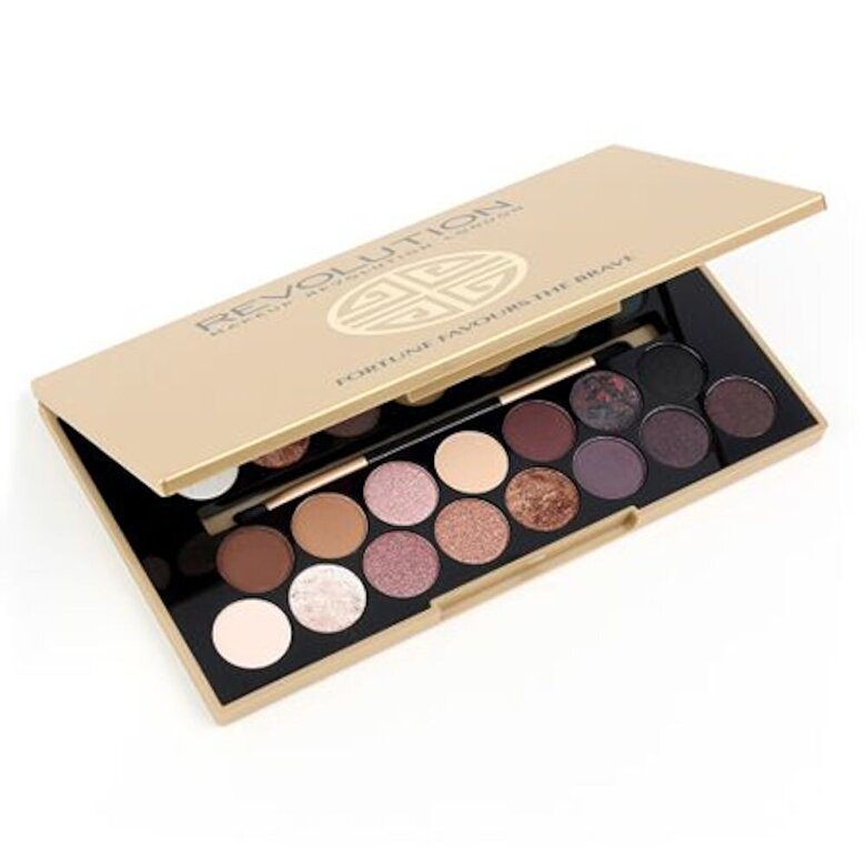 Makeup Revolution London - Paleta farduri de pleoape Fortune Favours the Brave, 33 culori - Incolor