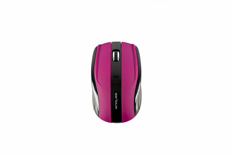 SERIOUX - Mouse Serioux, SRXM-RBM400W-PP, USB, optic, 1600DPI, Mov - Violet cardinal