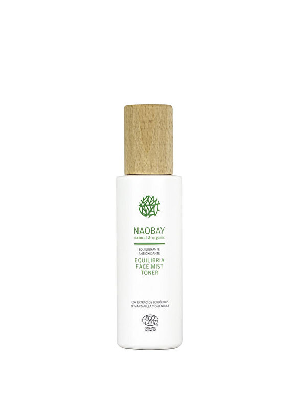 NAOBAY - Lotiune tonica organica cu extract de Aloe Vera si Acai pentru ten normal si mixt, Equilibria, 200 ml - Incolor