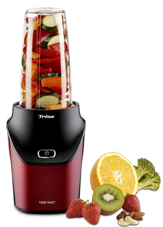 Trisa - Blender Trisa Energy Boost 6928.83, cu motor foarte puternic de 1000W, cutit cu 6 lame, 25.000rot/min - Rosu