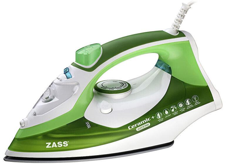 Zass - Fier de calcat Zass A 15, 2200W, talpa ceramica+, calcare verticala, Jet 120g/min - Verde